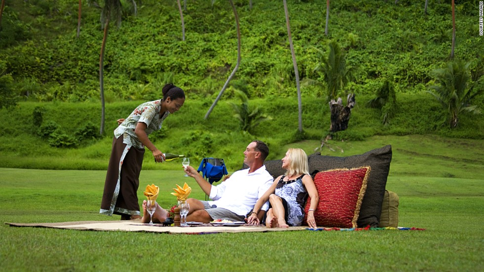 A four-course picnic in a mysterious place? Sign up at Namale Resort and Spa on Fiji's Vanua Levu island.