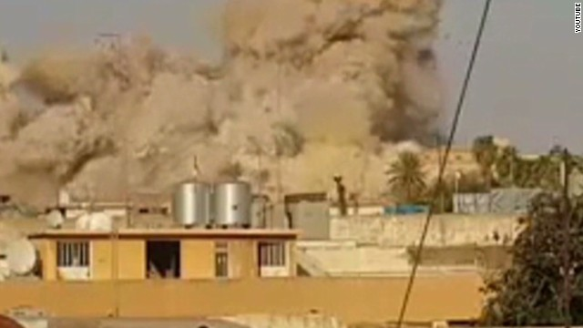 ISIS militants destroy the tomb of Jonah