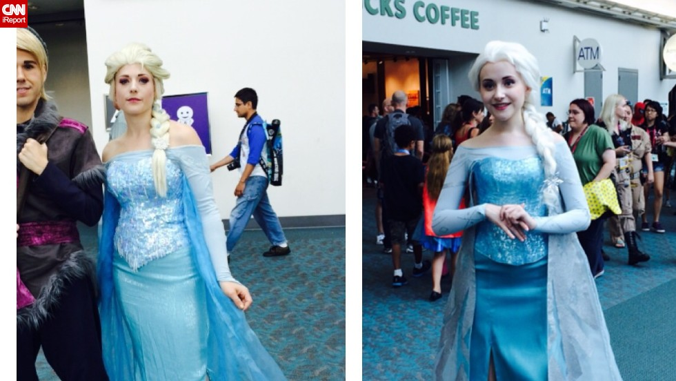"Elsa from the wildly popular Disney movie ""Frozen"" is certainly a hot costume this year."
