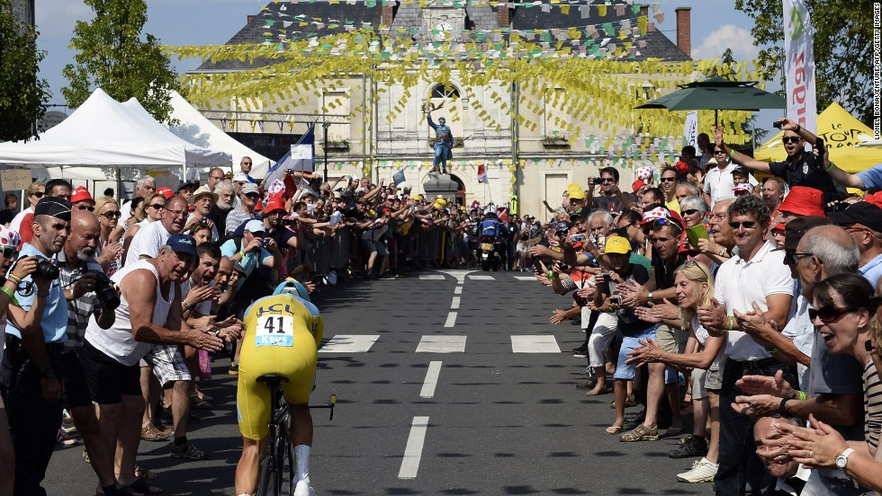 Nibali put up a strong performance on the 20th stage, an individual time trial, to seal his Tour triumph.