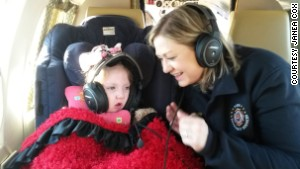 Janea Cox and her daughter Haleigh fly to Colorado Springs, Colorado.