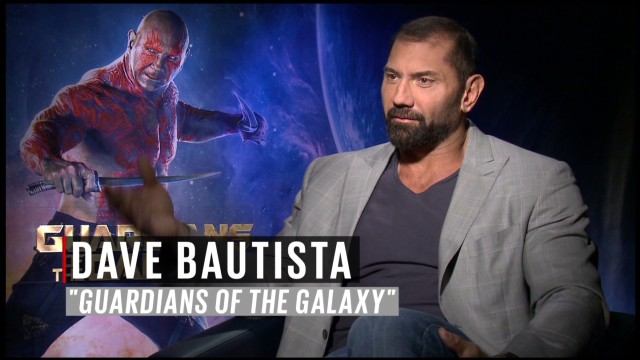 Dave Bautista loved 'Guardians' makeup