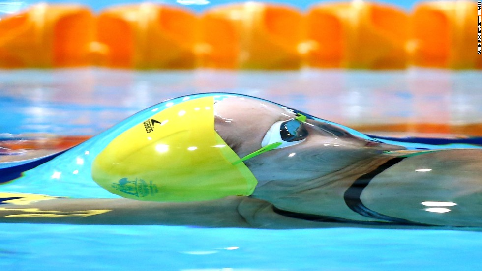 Belinda Hocking of Australia competes in the women's 100-meter backstroke Friday, July 25, during the Commonwealth Games in Glasgow, Scotland. More than 4,500 athletes from 71 countries and territories are participating in the multisport event, which is held every four years like the Olympics.