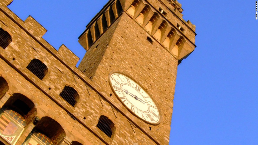For those who can tear themselves away from their smartphone screens, Florence has some amazing sights -- like the Palazzo Vecchio, the city's town hall.