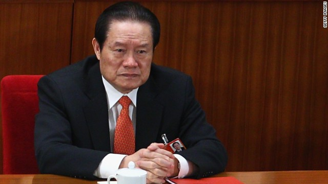 Zhou Yongkang, former security chief of China, on March 14, 2011 in Beijing, China.