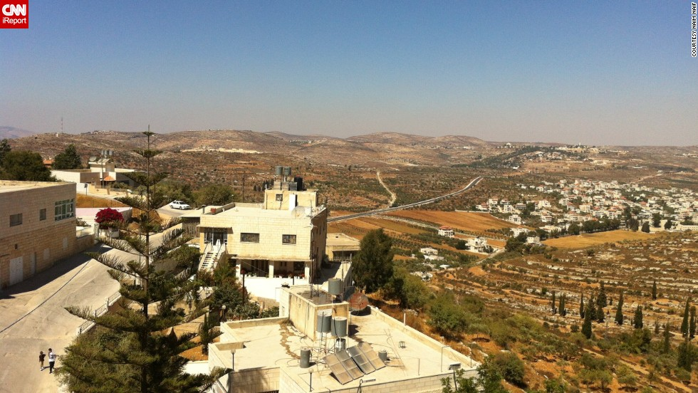 Remember the engagement photo of Naif's parents from the 1980s in Sinjil, West Bank? Naif snapped a view of the same vista, but 30-some years later in 2012.