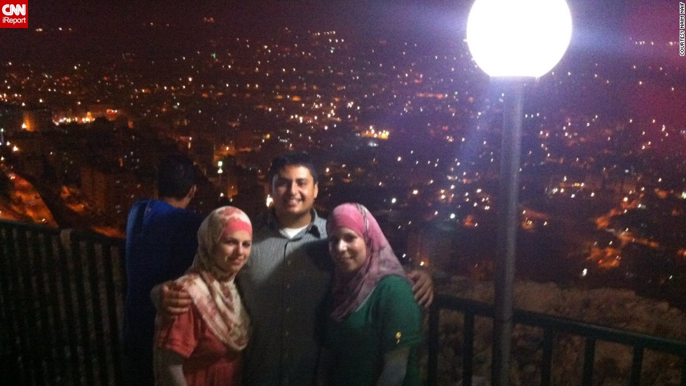 Naim Naif and his cousins visit Nablus, a city in the north West Bank, in 2012. Naif says he tries to return to the country once every two years, as 70% of his family still lives there.