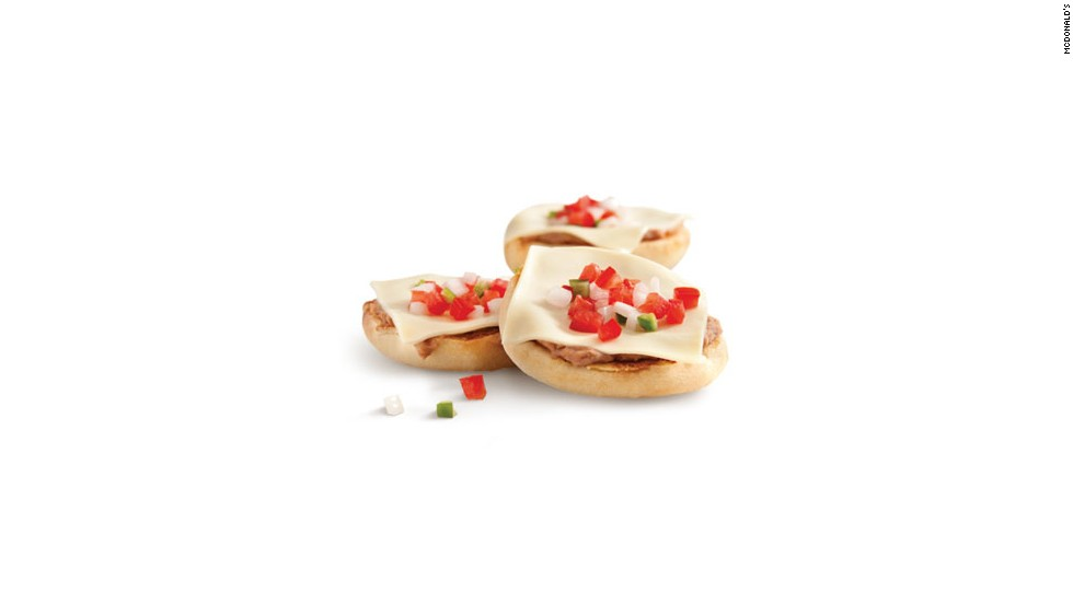 Molletes, a traditional Spanish and Mexican snack, are offered for breakfast at McDonald's Mexico.