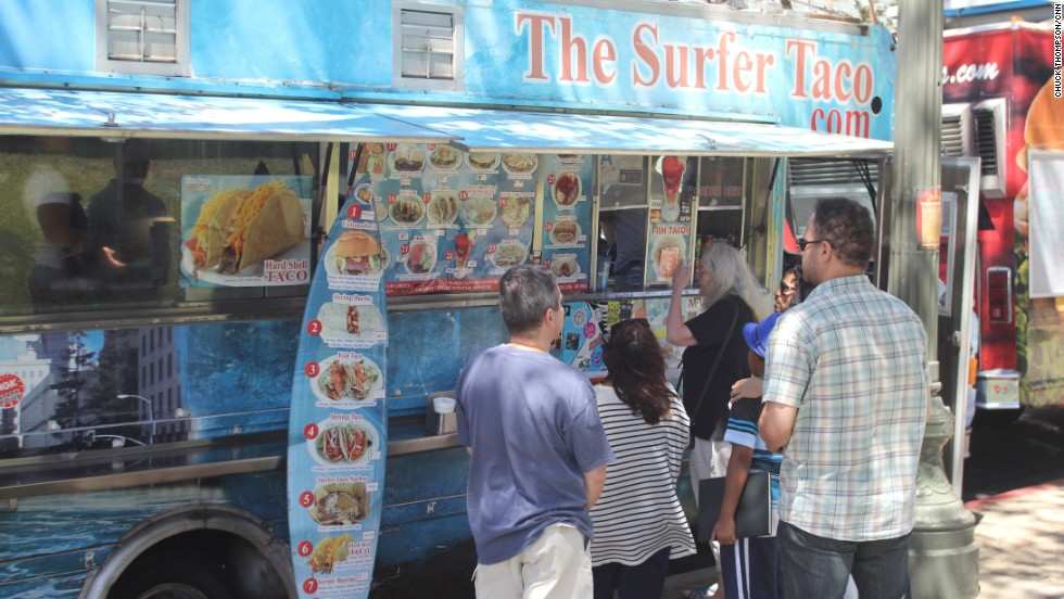 "L.A.'s food trucks are an extension of Southern California's long-established ""taco trucks"" that sell freshly made tacos and other Mexican ""fast food."""