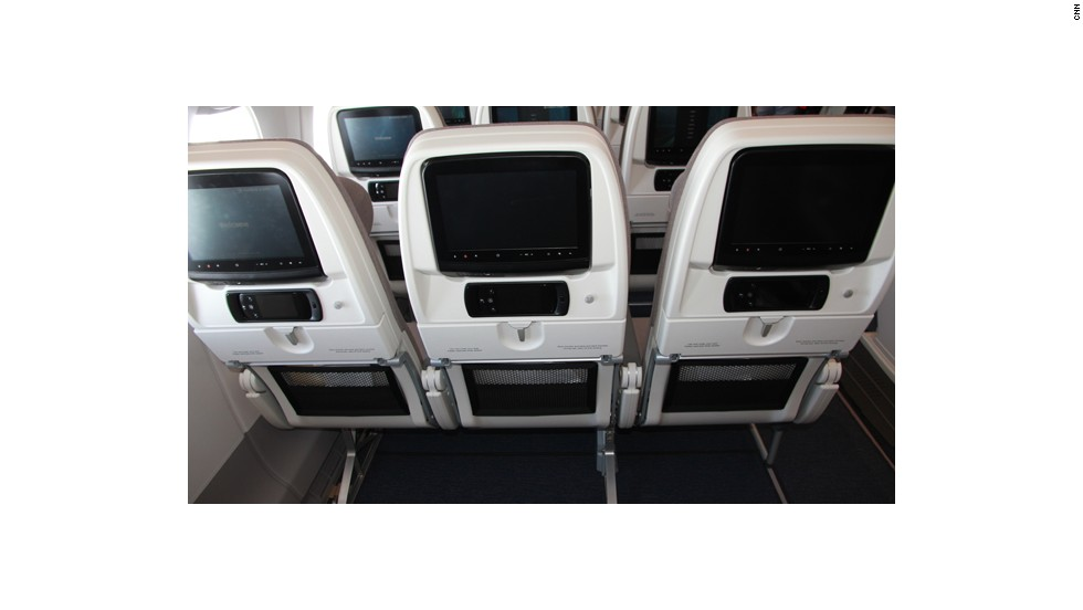 No more lumpy carpets: The in-flight entertainment system has been wired under the floor and boxes removed from passengers' floor space.