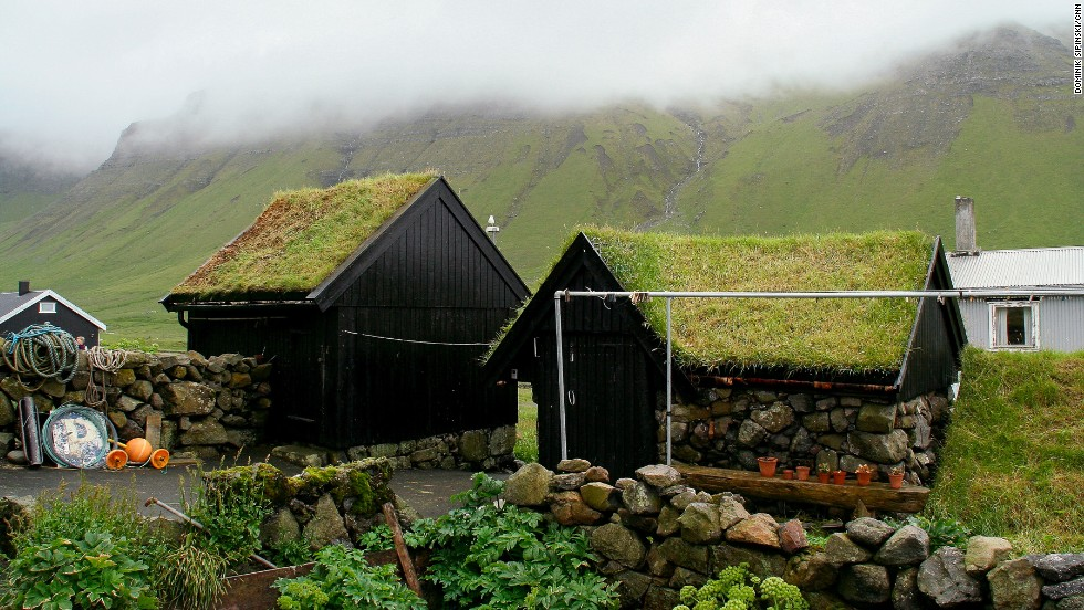 Houses have been built like this for more than 1,000 years, providing protection from rain and thermal insulation. Though challenging to maintain (yes, they need to be mowed), in a place with 300 rainy days a year and average wind speeds exceeding 15 mph, that kind of weather-proofing is key.