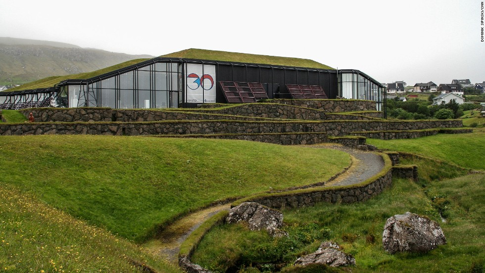 The Nordic House, a national cultural center opened in 1983, also sports a grass roof. The custom of topping houses in such a way used to be common to the whole Scandinavia, but it survives to the largest extent in the Faroe Islands.