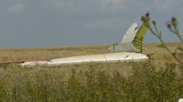 MH17's lonely crash site