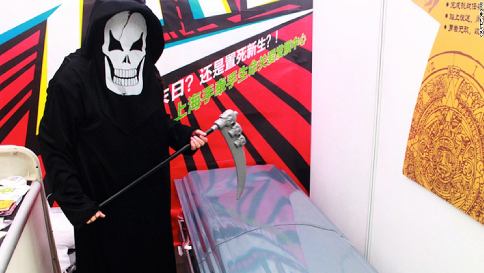 """The """"Samadhi -- 4D Experience of Death"""" game was first showcased during an exhibition of social enterprises at Gongyi Xintiandi in Shanghai."""