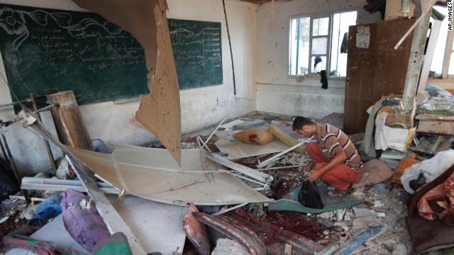 Brutal scene after attack at U.N. school