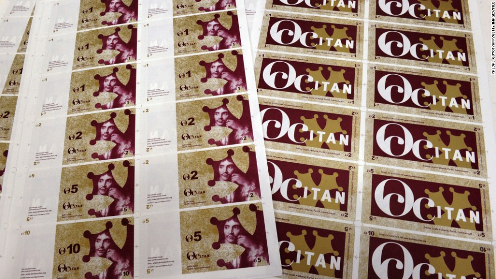 The Occitan local currency was launched in 2010 in the southwestern French town of Pezenas with the aim to boost local economic activity.