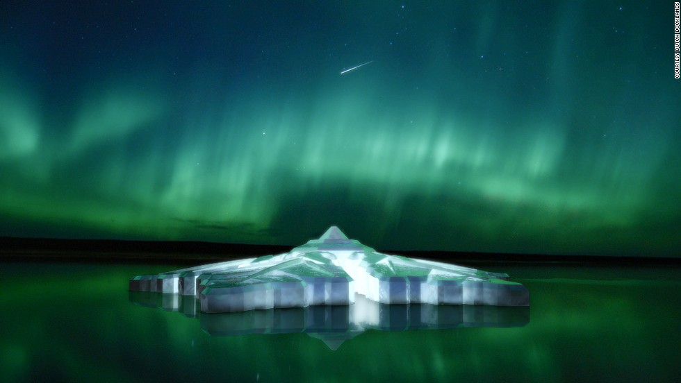 The Krystall's glass roof is designed to offer impressive views of the northern lights.