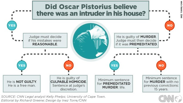 How Judge Masipa will decide the Oscar Pistorius murder verdict