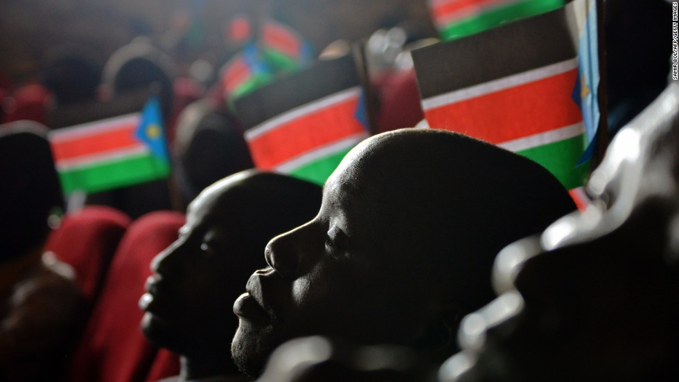 Children attend an anniversary celebration of the Red Army Foundation in Juba, South Sudan, on Tuesday, July 29, 2014.