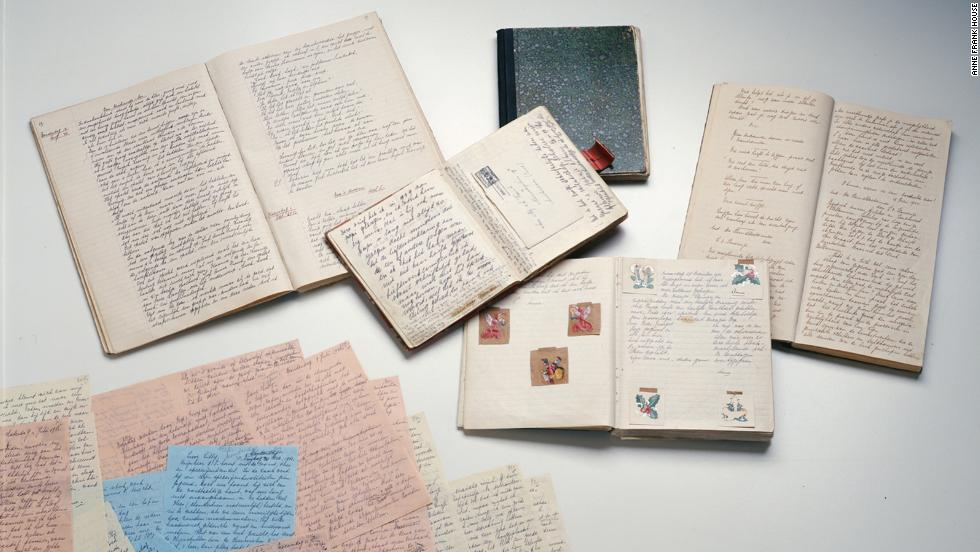 When her diary was almost full, Anne continued writing, using several notebooks. In 1944, she decided to rewrite her diary entries in the form of a novel, intending to publish it after the war, according to curators at the Anne Frank House in Amsterdam. Shown here are the different versions of her diary, known now as versions A, B and C.