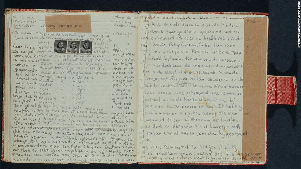 "Two pages, written in 1942, from the diary. ""Her inner life and her voice seem almost shockingly contemporary, astonishingly similar to the voices of the teenagers we know,"" says Francine Prose, author of ""Anne Frank: The Book, the Life, the Afterlife."""