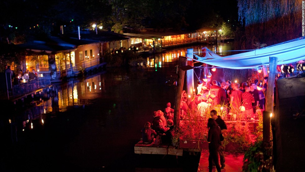 "If a city's mental health was determined by how many hours of the week its clubs weren't active, Berlin would be a lunatic in a straightjacket. The city's waterways are lined with ""beach"" bars, such as Club der Visionare."