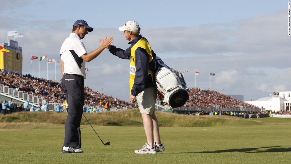 "The following year the pair repeated the feat as Harrington retained his British Open crown thanks to a four-shot victory at Royal Birkdale. ""It's all about creating your own reality when you're on the golf course,"" the Irishman said of his relationship with Flood."