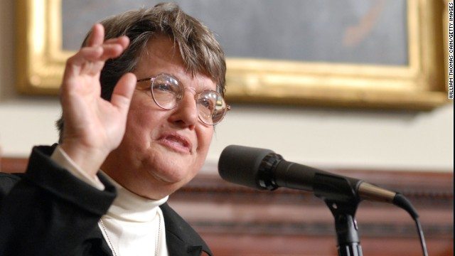 Sister Helen Prejean speaks with the media about the bill, which New Jersey Governor Jon S. Corzine signed into legislation to eliminate the death penalty and replace it with life imprisonment without eligibility for parole, December 17, 2007 at the State House in Trenton, New Jersey. New Jersey is the first state to eliminate the death penalty in 42 years.