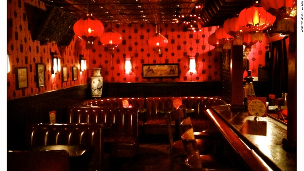 It's all Far East at the Good Luck Bar, which has every opium den decor cliche on the list. Paper lanterns. Dragons on the ceiling. Cozy rooms with walls as red as Mao's Little Book. And a last-call gong.
