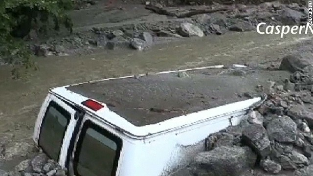 Mudslides shut down California town