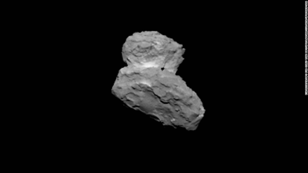 This image of the comet was taken on August 1, 2014, as Rosetta closed in its target.