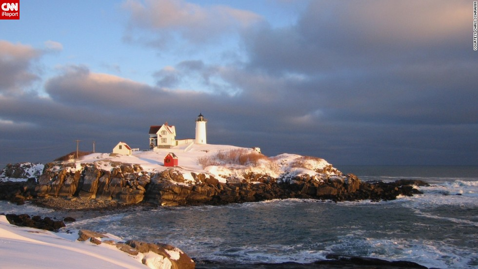 "Nubble Light in York, Maine, is a central part of the community, as <a href=""http://ireport.cnn.com/docs/DOC-1157810"">Chris Schramm</a> describes it: ""I've been all over the island and through the house and light. I've flown over it. I've been around it in an aluminum boat."""