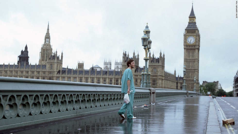 "Hollywood loves an infectious movie plot. In ""28 Days Later,"" (2002) a virus experiment on monkeys goes wrong after activists free the animals, who then infect London. It takes only 28 days for the city to destroy itself. (Warning: This gallery contains movie spoilers!)"