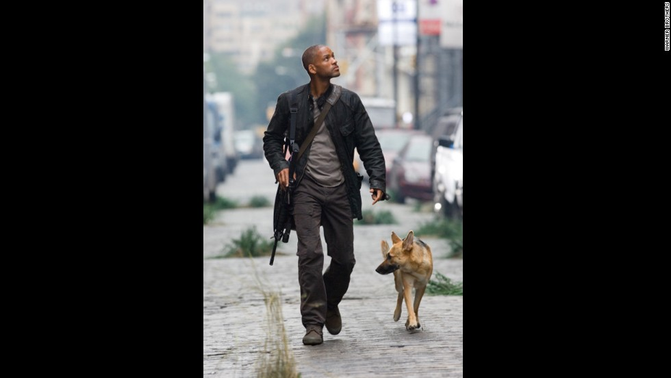 "In 2007's ""I Am Legend,"" a manmade virus that was created as a cure for cancer has a deadly mutation that leaves a virologist believing that he is the only healthy human left in the world. He is able to develop a cure but at the cost of his own life."