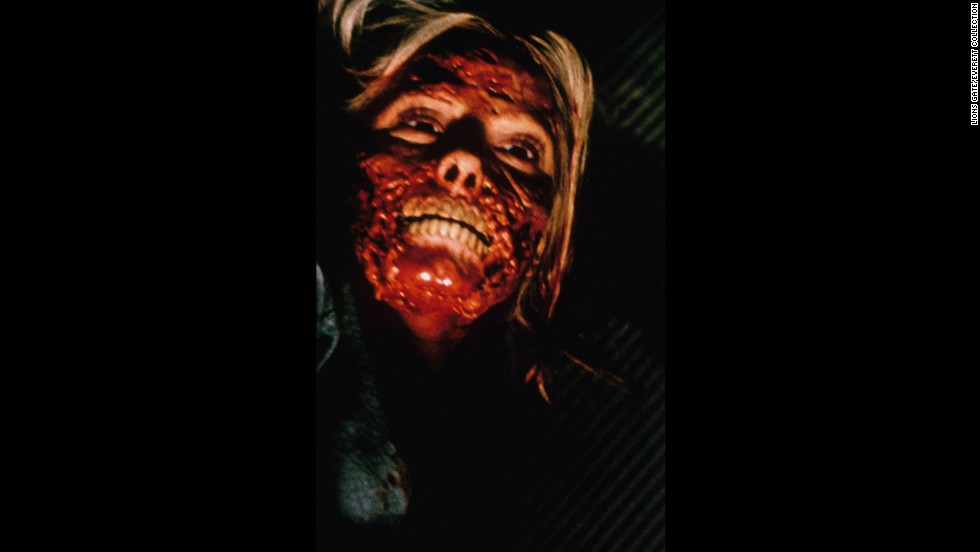 """A cabin trip turns deadly when college friends get infected with a flesh-eating virus in 2002's """"Cabin Fever."""" One by one, the friends get infected, with gory results."""