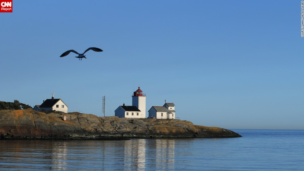 "The Langoytangen lighthouse in Langesund, Norway, was a favorite of <a href=""http://ireport.cnn.com/docs/DOC-1157046"">Hans-Dieter Fleger</a>: ""'My family and I have often taken the children there to experience the sea. When we lived in Porsgrunn, I took photos of the lighthouse every time, but now - since we live in Atraa - it's rather rare."""