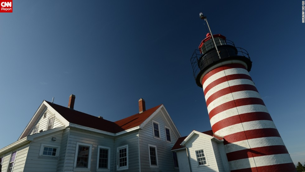 "<a href=""http://ireport.cnn.com/docs/DOC-1158222"">Bob Yee</a> found this Lubec, Maine lighthouse to be particularly photogenic. He said it was a ""classic lighthouse building and tower on a scenic plot without distracting backgrounds or artifacts. Very easy to shoot well."""