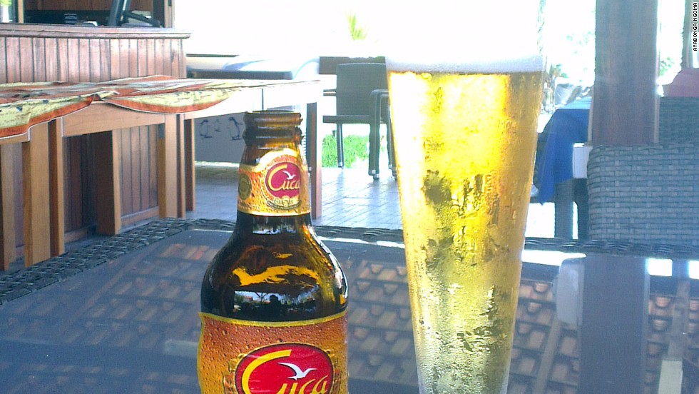 A bottle of Angola's Cuca beer is one of the most affordable items on most menus.