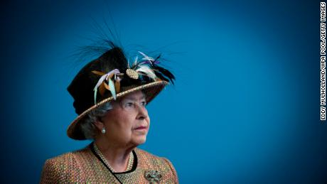 Queen Elizabeth II at the refurbished East Wing of Somerset House, on February 29, 2011 in London, England.