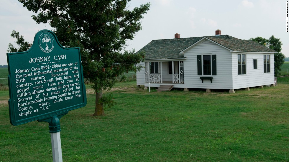 Now an Arkansas Heritage Site, Johnny Cash's boyhood home in Dyess has been restored and opens for tours on Saturday.