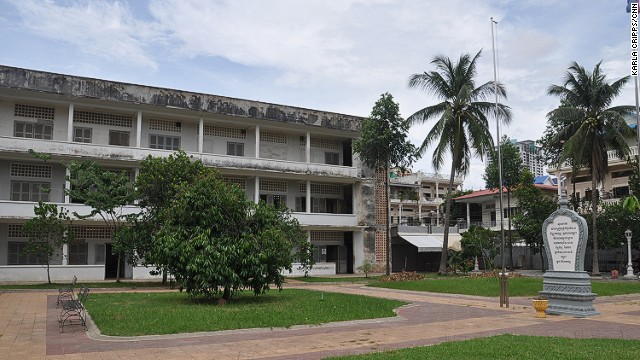 Tuol Sleng Genocide Museum is set in a former high school, later used by the Khmer Rouge as a prison and interrogation center.