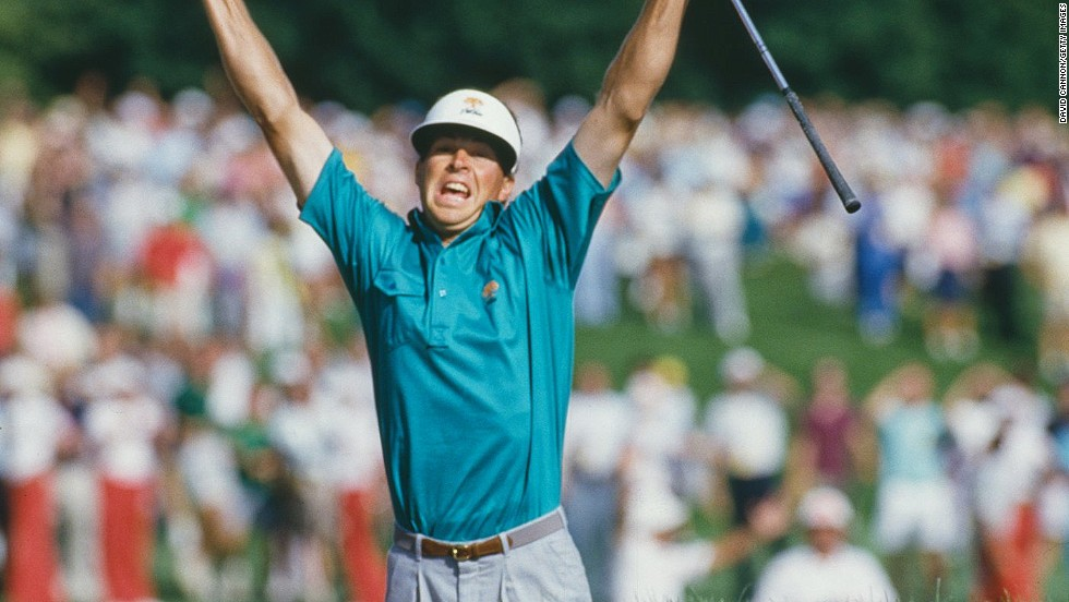 "An ecstatic Bob Tway finds the cup with a bunker shot on the last hole at the 1986 U.S. PGA Championship at the Inverness Club in Toledo, Ohio.<br /><br />""This moment is tinged with sadness as it was the moment Tway denied Greg Norman the U.S. PGA Championship,"" Cannon says of one his favorite players missing out on glory. ""But a brilliant picture of a brilliant shot and wonderful joy."""