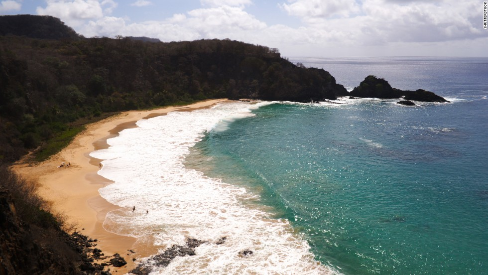 The island of Fernando de Noronha is one of Brazil's national marine parks. The island's Baia do Sancho is a peaceful spot for snorkeling and sunbathing.
