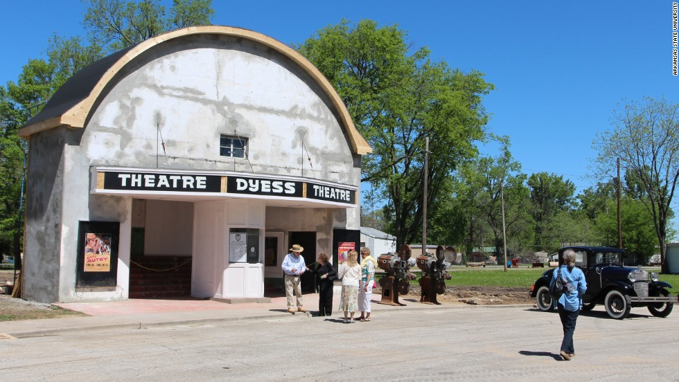Restoration work has already begun on the Dyess Theatre, next to the administration building, which will be used as a visitor center.