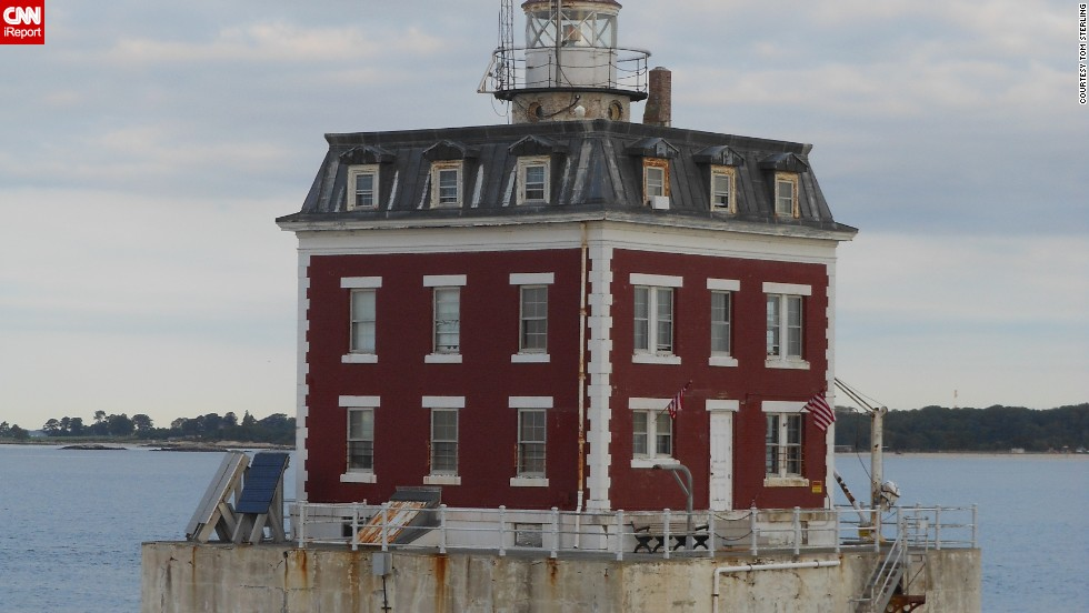 """Tom Sterling got something of a ghostly feeling when he visited this lighthouse in Connecticut. """"I ride on the New London - Fishers Island ferry, which is a relaxing, 45-minute boat ride, and each trip takes me close to the New London Ledge Lighthouse.""""."""