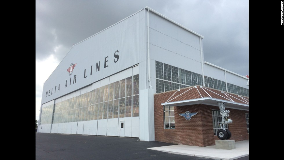 "Everything about the place screams ""airplanes,"" including the Boeing 757 landing gear embedded into the front of the building."
