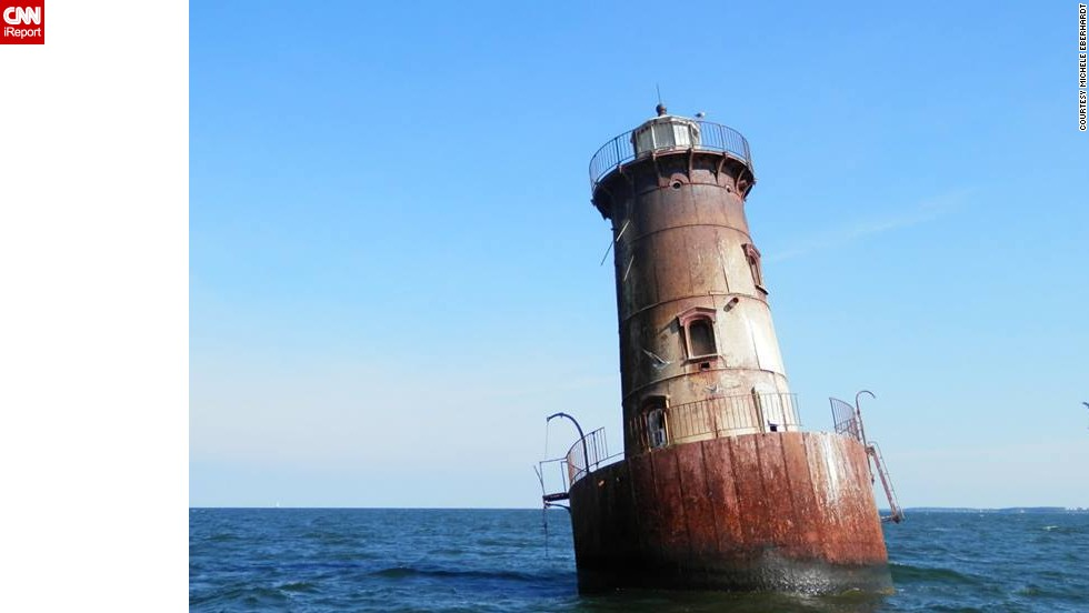 "Sharps Island Light, located in Maryland's Chesapeake Bay, is only accessible by boat. In 1976, large ice floes <a href=""http://tilghmanisland.com/lighthouse-tours/"" target=""_blank"">tilted the tower 15 degrees</a>.<strong> Click the double arrows to see more photos.</strong><br />"