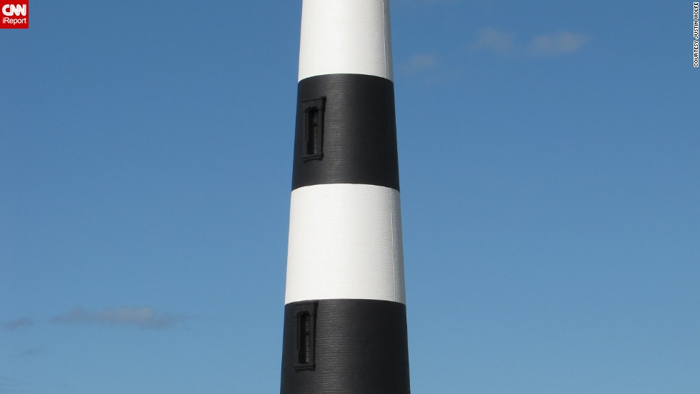 """<a href=""""http://ireport.cnn.com/docs/DOC-1159187"""">Justin Wolfe</a> called it a treat to be able to view the powerful lens of the Bodie Lighthouse up close in Nags Head, North Carolina."""