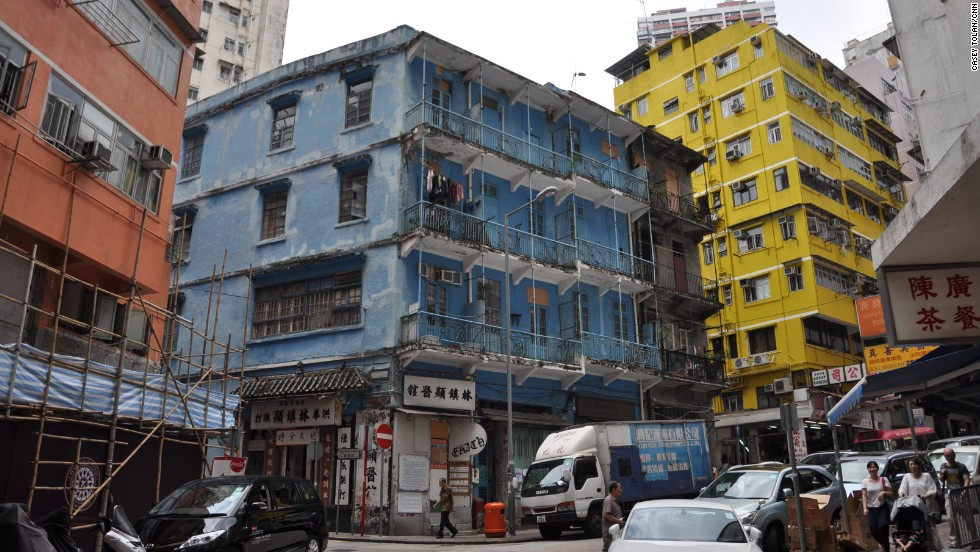In Hong Kong's Wan Chai neighborhood, the Blue House is a 1920s tenement that lies at the heart of a cluster of historic buildings.