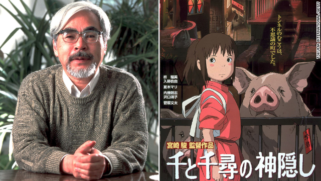File: Legendary director Hayao Miyazaki is known for films such as My Neighbor Totoro and Spirited Away (right), which won the Academy Award for Best Animated Feature in 2003.